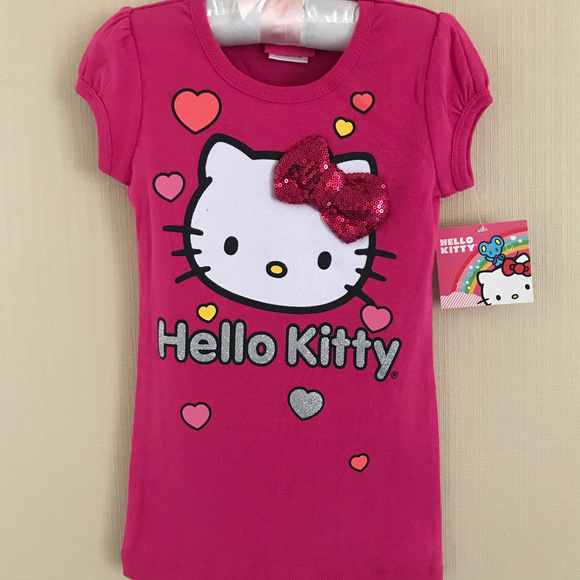 Girls Hello Kitty in GLITTER pumpkin shirt-new w// tag
